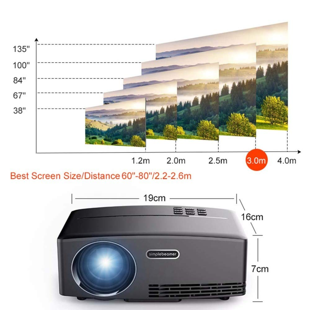 KAIDILA GP80 Proyector Mini proyector 6.01 Android 4k / 2k WiFi ...