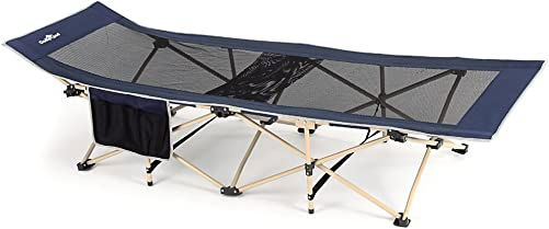 CampLand Folding Portable Camping Cot Sleeping Bed for Adults Kids Easy Set Up Cot Bed Office Bed with Carry Bag for Travelling,Camping,Office Nap, Beach Vocation and Home Lounging,Support 661.38lbs