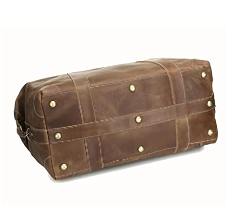 ... Bolsa de viaje de cuero loco Caballo Paquete de hombro diagonal al aire libre de gran capacidad Bolsa de mano Bolsa de hombro de los hombres Equipaje ...
