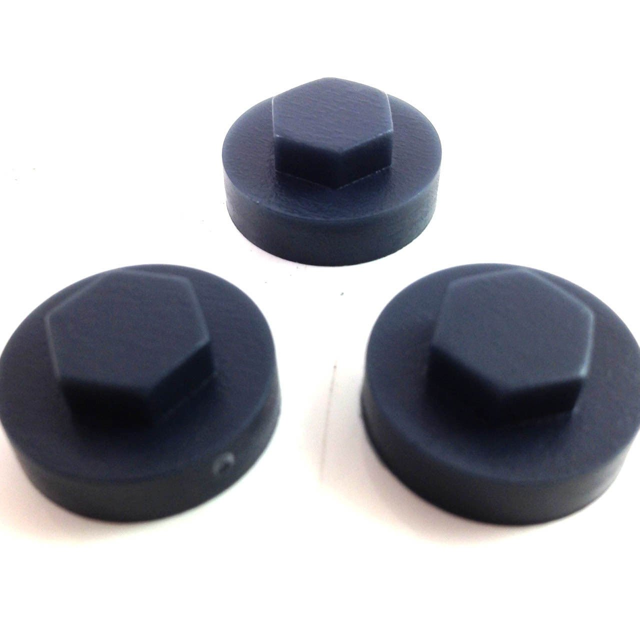 "16mm RAVEN BLUE HEXAGONAL TEK SCREW COVER CAPS TO FIT 8mm 5//16/"" TEK SCREWS"
