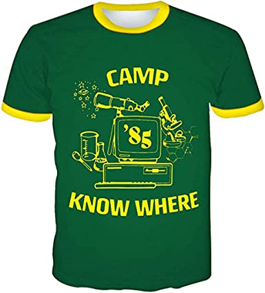Siskey Stranger Things Dustin Camisa para adultos, con gorra ajustable Camp 85 Know Where: Amazon.es: Ropa y accesorios
