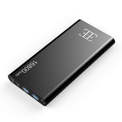 Amazon.com: Eui 16800 mAh batería externa, 2 salidas USB ...