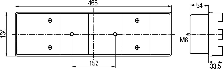 HELLA 2VP 008 204-081 Heckleuchte rechts 12V mit Lampentr/äger