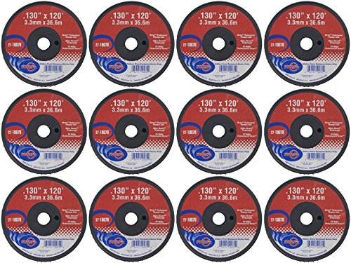 """12 Pack of Vortex Trimmer Line 10070, 0.130"""" X 120' Small Spools by Rotary"""