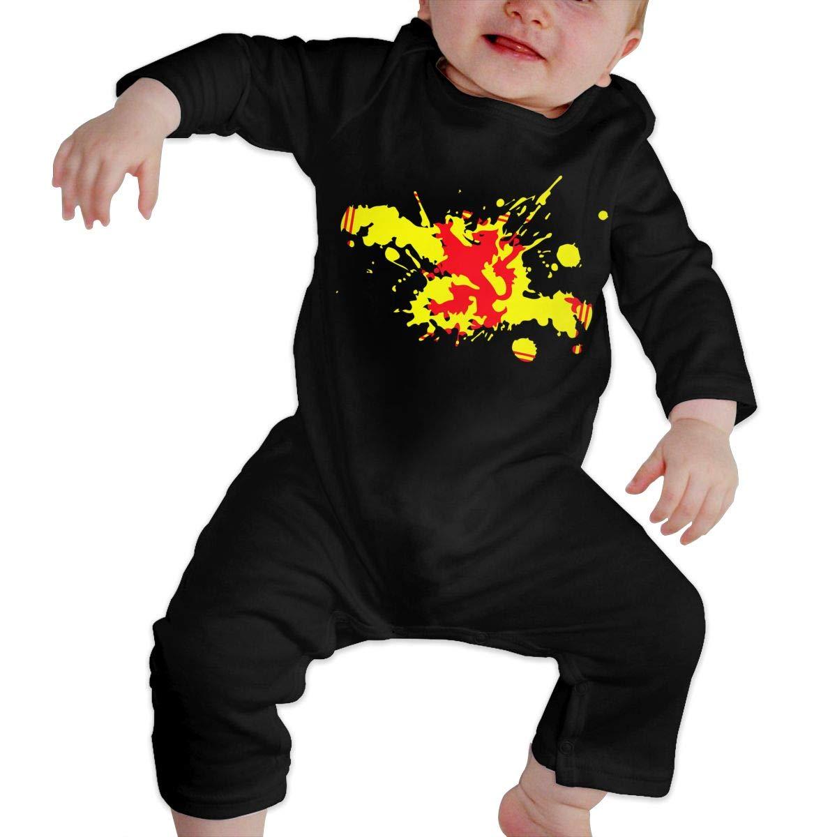 UGFGF-S3 Scotland Flag Lion Baby Girl Long Sleeve Romper Jumpsuit Toddler Jumpsuit