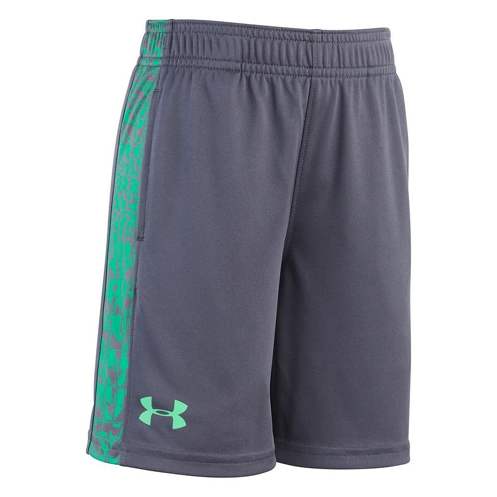 Stealth Grey Under Armour Little Boys Code Printed Shorts 4T