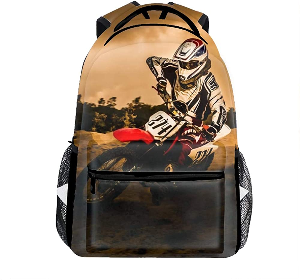 Lightweight Dirt-Bike Motocross Motorcycle Vehicle Backpacks Women Bags Men Bookbags