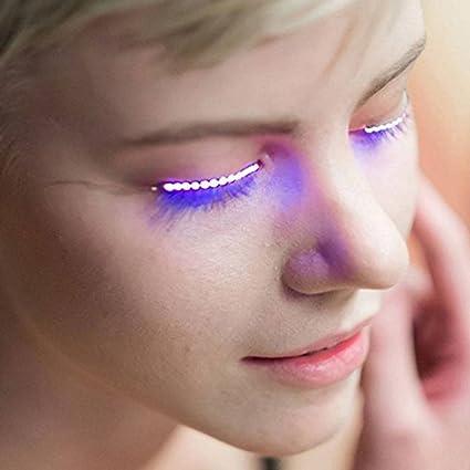 Led Flashing Eyelid False Eyelashes Cosmetic Makeup False Eyelash For Party Players And Performance False Eyelashes High Safety Beauty & Health