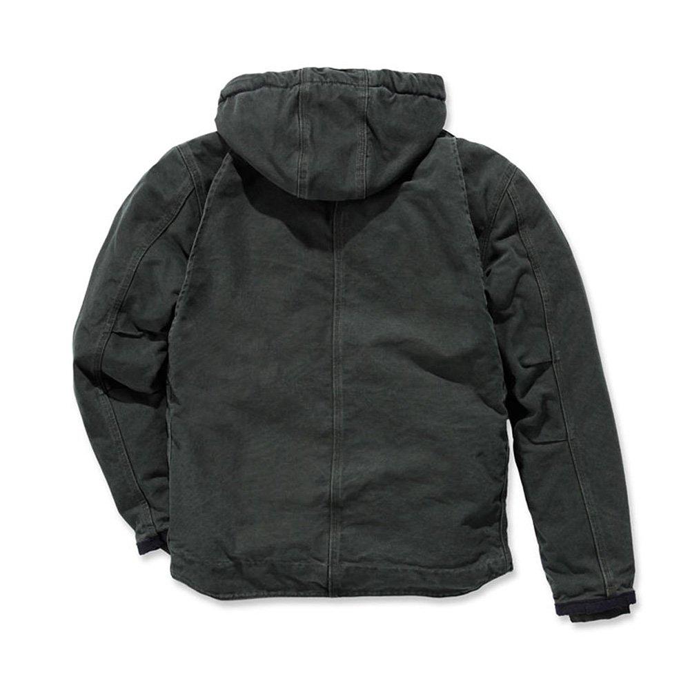 Carhartt Men's Sherpa Lined Sandstone Hooded Multi Pocket Jacket J284,Moss,XX-Large by Carhartt (Image #2)