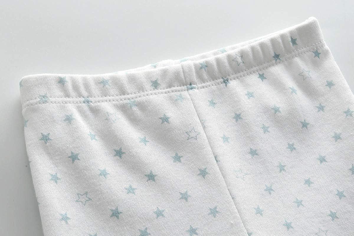 Kiddiezoom Lot de 4 pantalons en coton pour nouveau-n/é Unisexe