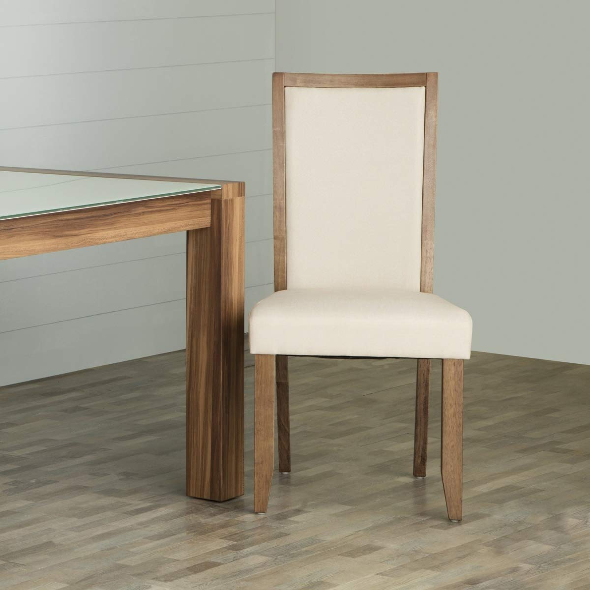 Home Centre Rubber Wood; Solid Wood Contemporary Dining Chair  Beige, 2 Pieces  Dining Chairs