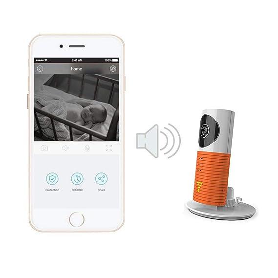 Aquarius Clever - Cámara de vigilancia inalámbrica para perro, WiFi CCTV, con visión nocturna y cámara de detección de movimiento, monitoriza una casa por ...