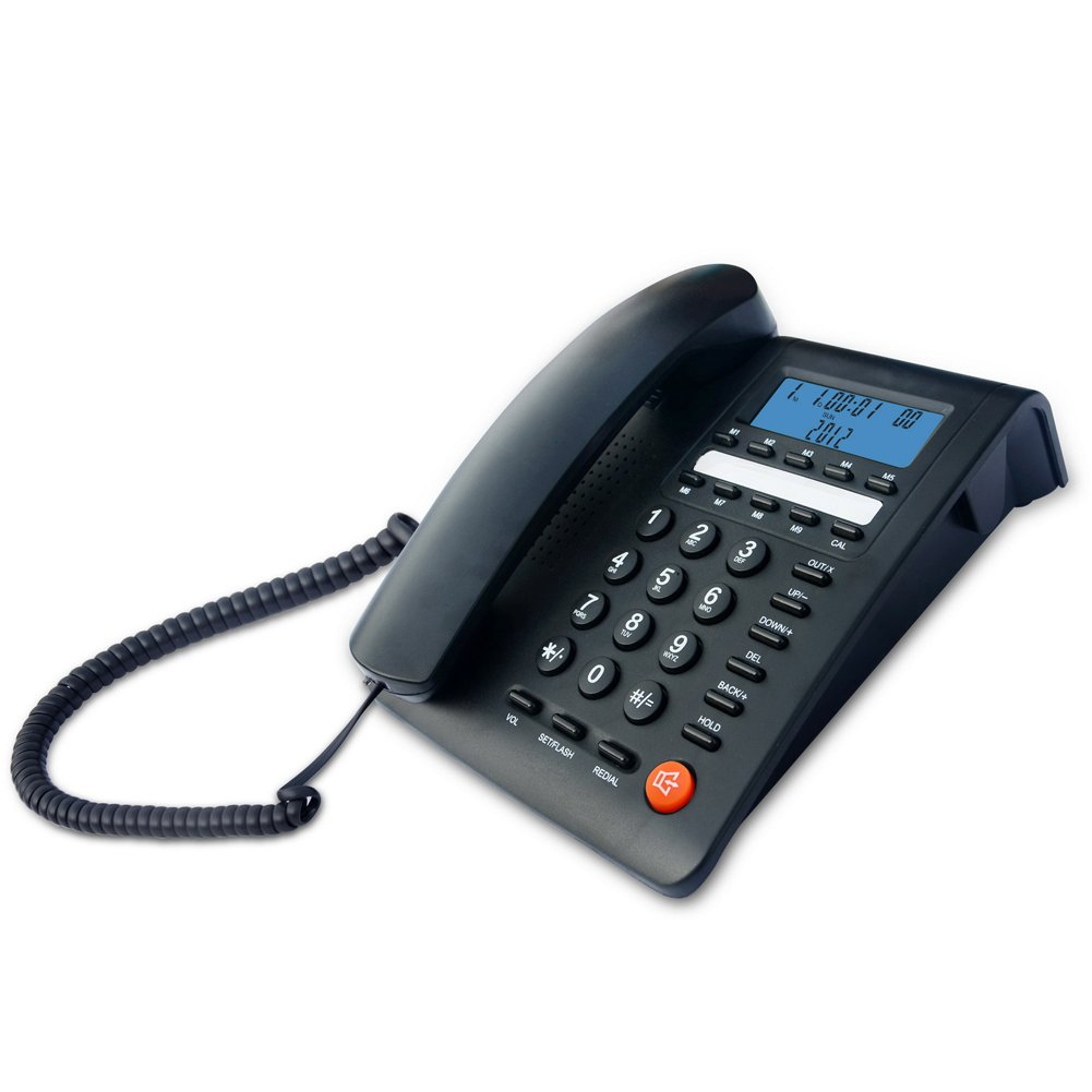 KerLiTar K-M59 Landline Corded Telephone with Caller ID Home Office Phone with Speed Dial