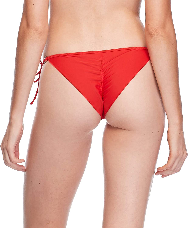 Body Glove Smoothies Brasilia Tie Side Cheeky Bikini Bottom Swimsuit Bas Femme Smoothie True Red