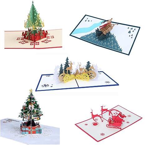 WDC Tarjeta De Navidad Impresión En Color 3D Tarjeta De ...