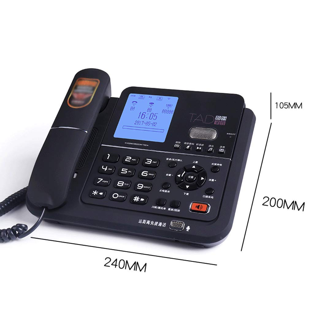 Old-Fashioned Telephone Cordless Fixed Digital Office Home Wireless Landline (Color : Black) by CQH (Image #1)