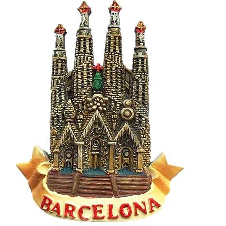 Resina Craft España Barcelona regalo de recuerdo imán para nevera ...