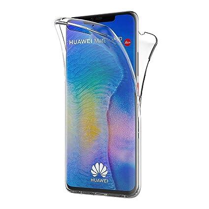 AICEK Funda Huawei Mate 20 Pro, Transparente Silicona 360°Full Body Fundas para Huawei Mate 20 Pro Carcasa Silicona Funda Case (6,39 Pulgadas)