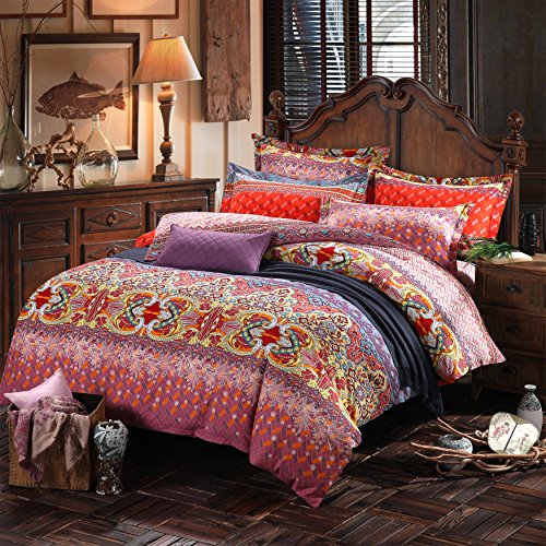 lelva country style bedding sets bohemian style bedding boho style bedding set boho duvet. Black Bedroom Furniture Sets. Home Design Ideas