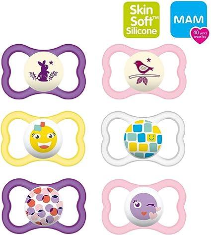 MAM Air Night Uni Mix 3 /étuis de transport st/érilis/és inclus MAM Day /& Night MAM Air Lot de 6 t/étines en silicone 16
