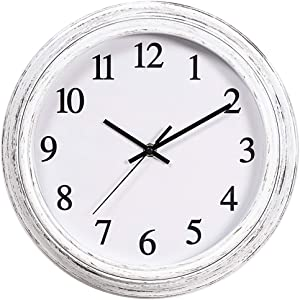 Kingrol 12-Inch Vintage Wall Clock, Silent Non Ticking Quality Quartz Clock, Easy to Read Decorative Clock for Home Office School