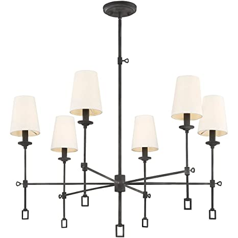 Amazon.com: Chandeliers - Lámpara de techo con 6 bombillas ...