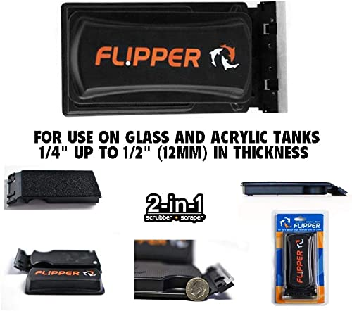 Flipper 2-in-1 Magnetic Tank Cleaner