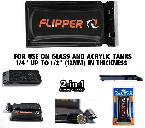 Flipper 2-in-1 Magnetic Tank Cleaner