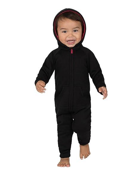Amazon.com  Joggies - Black   Red Infant Footless Hoodie Onesie ... 20603654e