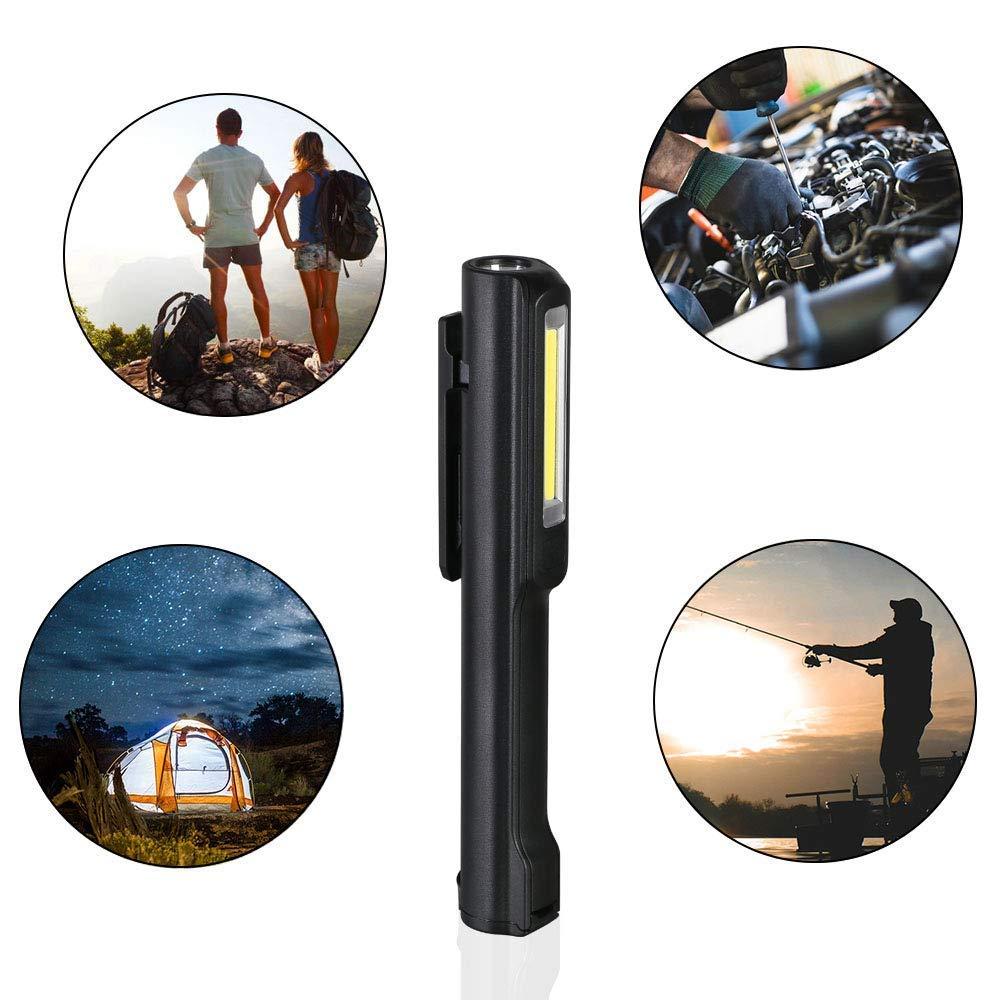 4 Modes Zoomable Pour Int/érieur et Ext/érieur SOS Alliage daluminium Imperm/éable flintronic/® Lampe Torche LED Comprend 1 C/âble USB, 1 Batterie Rechargeable Aventure Lampe de Poche 3 t/êtes