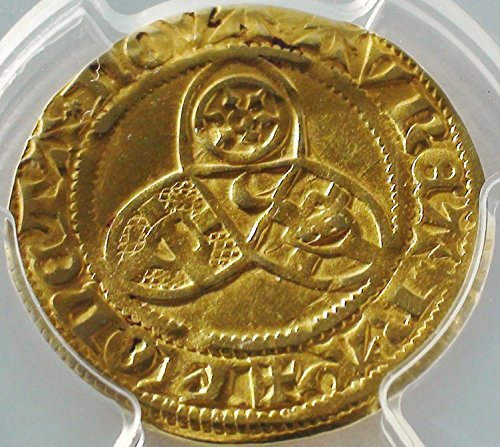 Rare Coin Gold (DE 1436-49 AD Germany Medieval Europe Middle Ages Rare Old Antique Gold Coin Gulden AU-50 PCGS)