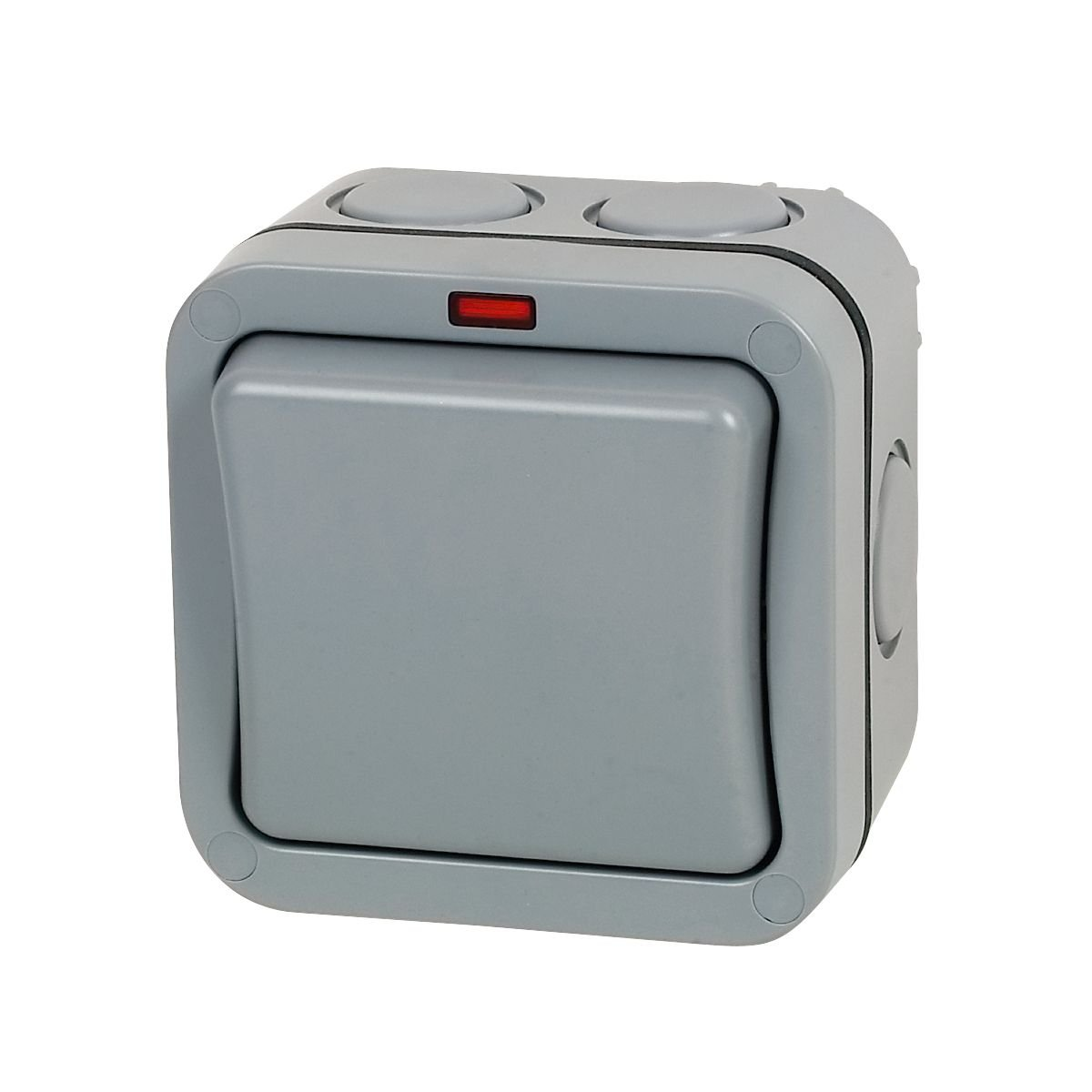 2 GANG IP66 WEATHERPROOF SWITCHES OUTDOOR 20A DOUBLE POLE WP42 1 BG STORM WP30