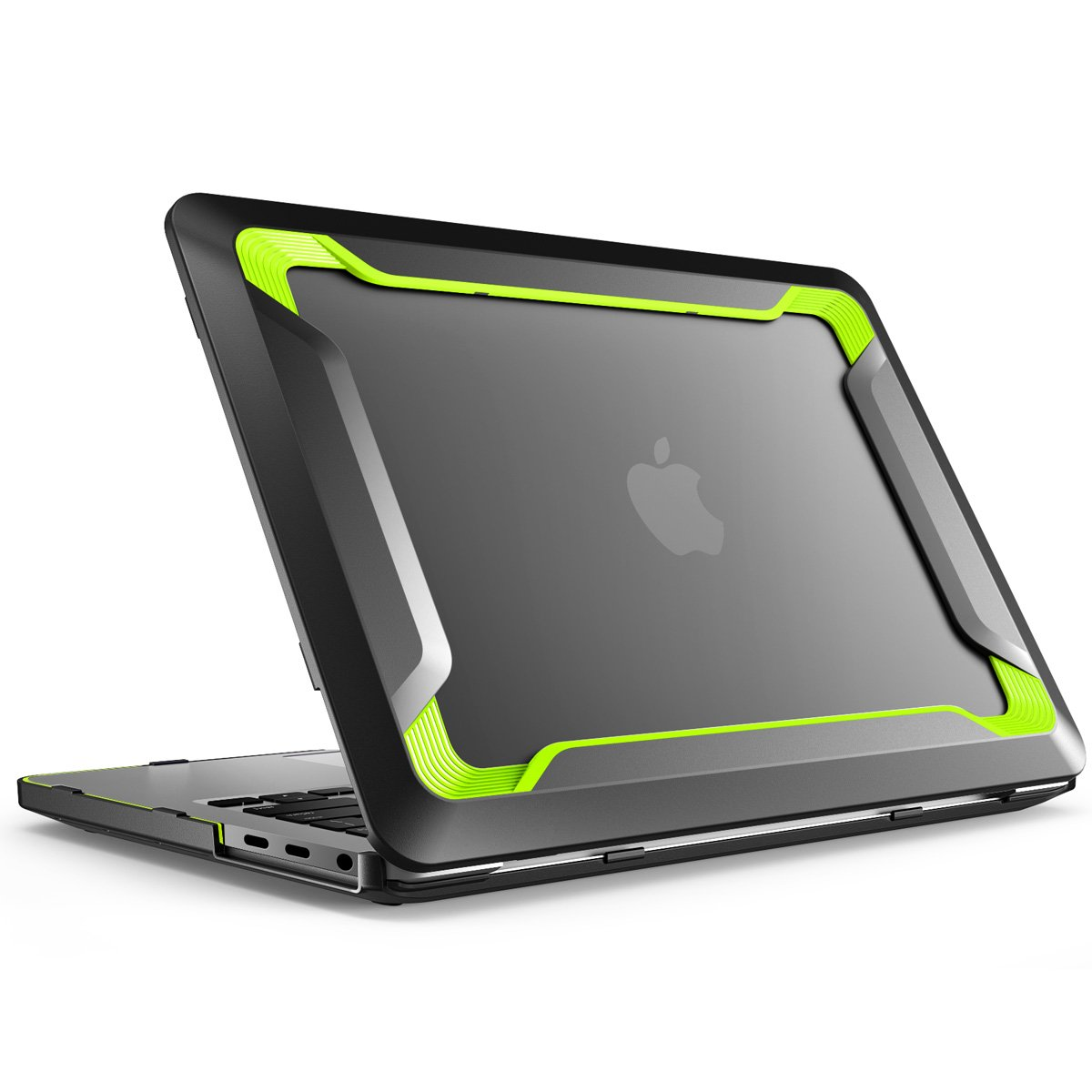 MacBook Pro 15 Case 2018 2017 2016 Release A1990/A1707, i-Blason [Heavy Duty] Slim Rubberized [Dual Layer] Cover with TPU Bumper for Apple Macbook Pro 15 inch with Touch Bar and Touch ID (Green)