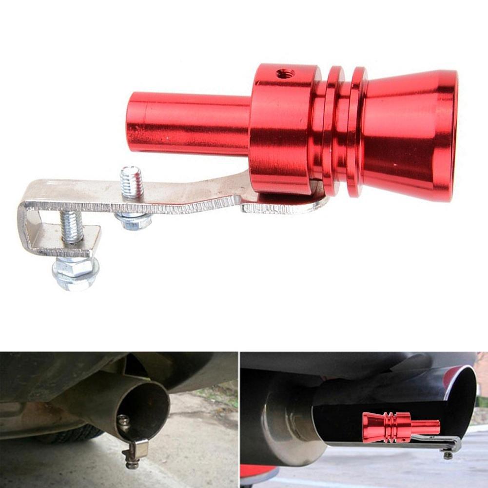 rosso XL Pb Peggybuy auto Turbo suono simulatore di scarico fischio silenziatore tubo valvola di scarico universale per tutti i modelli di veicoli