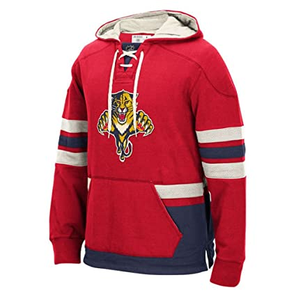 9fbf23e9ea6 Florida Panthers Men s NHL CCM Lace Em Up Pullover Hooded Sweatshirt ...