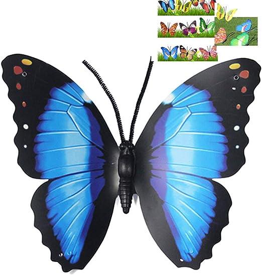 Lunji. Mariposas de jardín Grandes para decoración de jardín, jardín, Patio, Exterior, Color Aleatorio: Amazon.es: Jardín