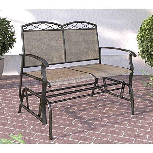 CorLiving PZT-325-G Patio Glider, Speckled Mixed Brown/Taupe