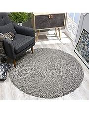 SANAT Vloerkleed, rond, hoogpolig, langpolig, moderne tapijten voor woonkamer, slaapkamer, eetkamer of kinderkamer