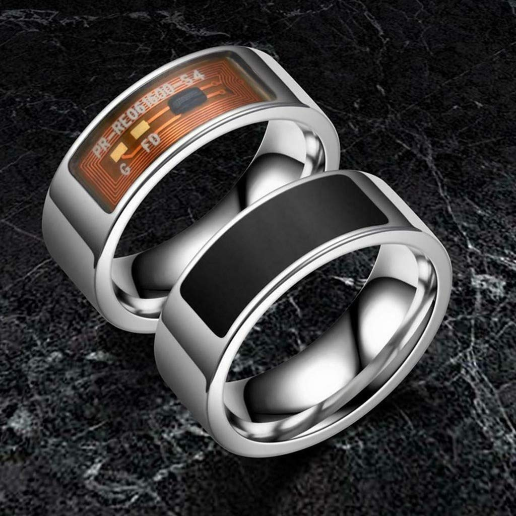 Black,14 NFC Smart Finger Digital Ring Wear Connect Android Phone Equipment Rings Fashion