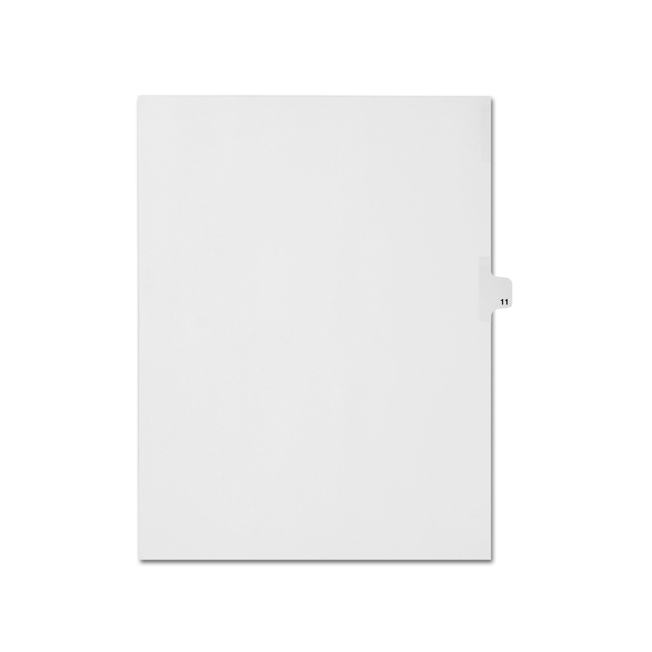 AMZfiling Individual Legal Index Tab Dividers, Compatible with Avery- Number 11, Letter Size, White, Side Tabs, Position 11 (25 Sheets/pkg)