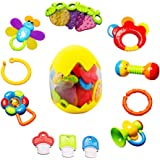 Baby Rattles Teether Toy - sunwuking 13 Pieces Newborn Infant Shaking Rattles Set with Box Packing Educational Rattle Toy for Babies for 3, 6, 9, 12 Months Baby