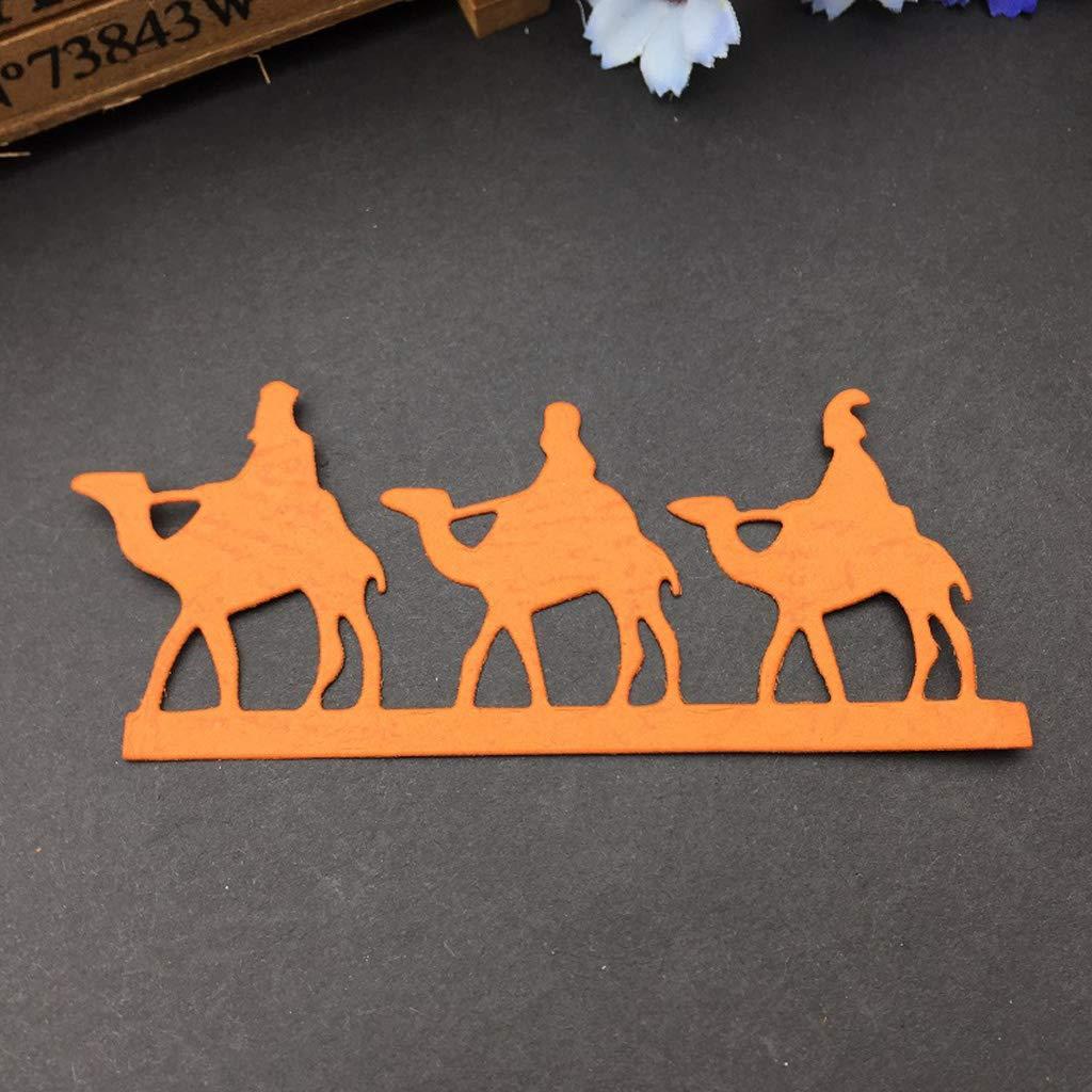 BUZHI Desert Camel Die DIY Metal Cutting Dies Stencil Scrapbooking Die Cuts for DIY Scrapbooking Card Making