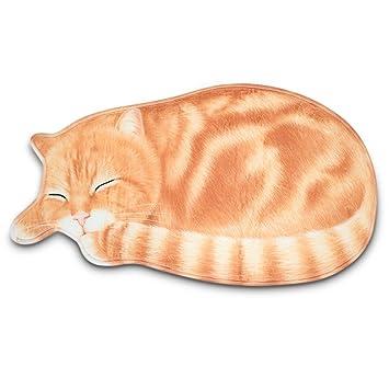 XU-XIAZHI,Alfombra para Dormir con Forma de Gato para Dormir Área de baño Alfombra Antideslizante Felpudo(Color:Amarillo,Size:43 x 80): Amazon.es: Hogar