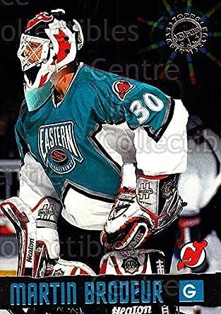 Amazon Com Ci Martin Brodeur Hockey Card 1996 Stadium Club