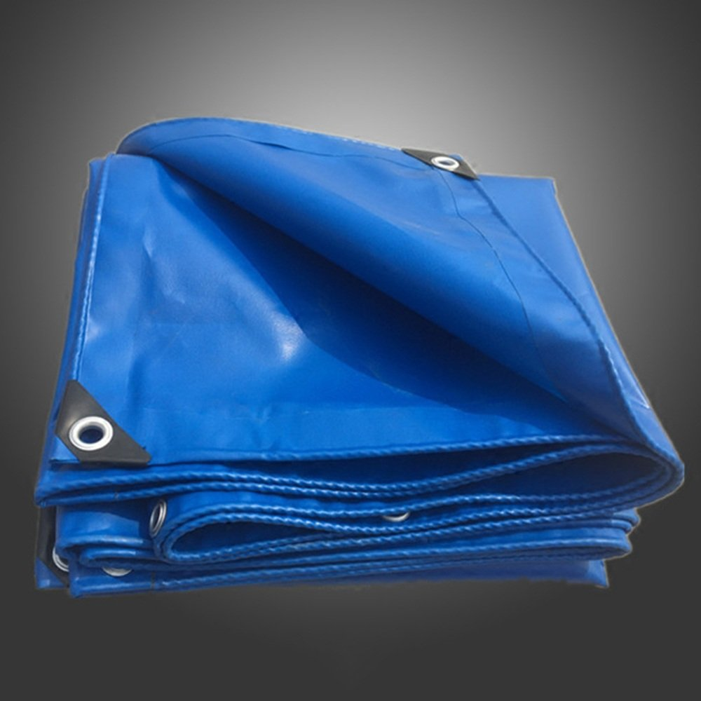 YNN ターポリンアウトドアブルー厚い防水雨の日焼け止め車のトラック用防水材0.32MM 17サイズの420 g/m² 防水シート (色 : Blue, サイズ さいず : 6x 6m) B07FNTRH5Y 6x 6m|Blue Blue 6x 6m