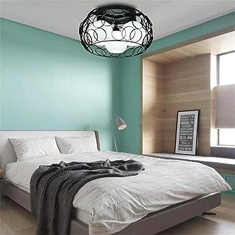 Ronde Lampe de plafond LED Nordique Lumière de chambre à coucher ...