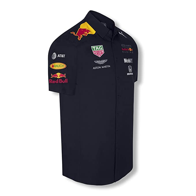 Red Bull Racing Official Teamline Camisa, Azul Hombre X-Large ...