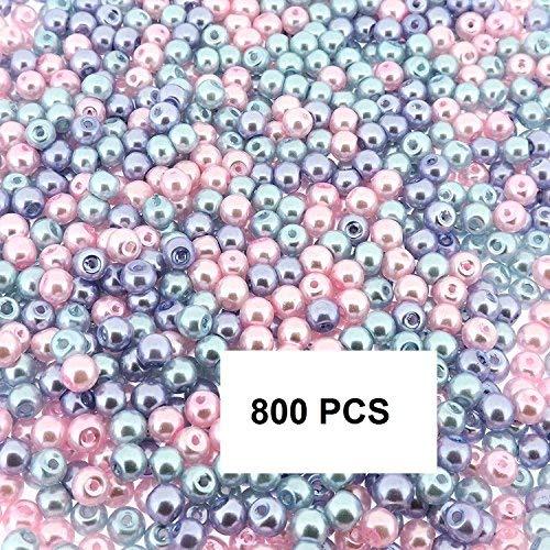 (Beads Direct USA Glass Pearls Mix TINY Round Luster 4mm - Princess Mix (4mm, 800pcs))