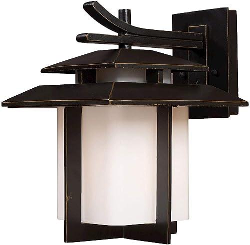 Elk Lighting 42171/1-LED Kanso 1 Light Outdoor Hazelnut Bronze-LED Offering Up to 800 Lumens 60 Watt Equivalent Sconce