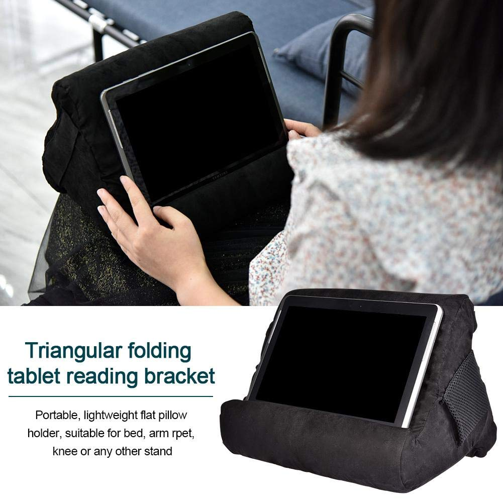 iPhone iPad Pro juman634 Multi-Angle Tablet Stand Pillow Holder para iPad Air tabletas lectores de Libros electr/ónicos y m/ás Negro iPad Mini